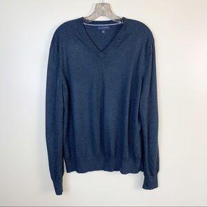 Men's Banana Republic Dark Gray V Neck Sweater
